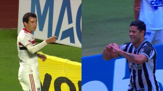 Artilheiros de Atlético-MG e São Paulo em 2021, Hulk e Pablo têm médias iguais